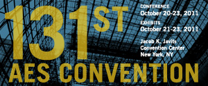 131st AES Convention Banner