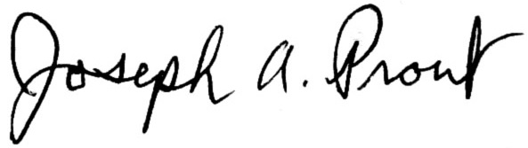Joe Prout signature