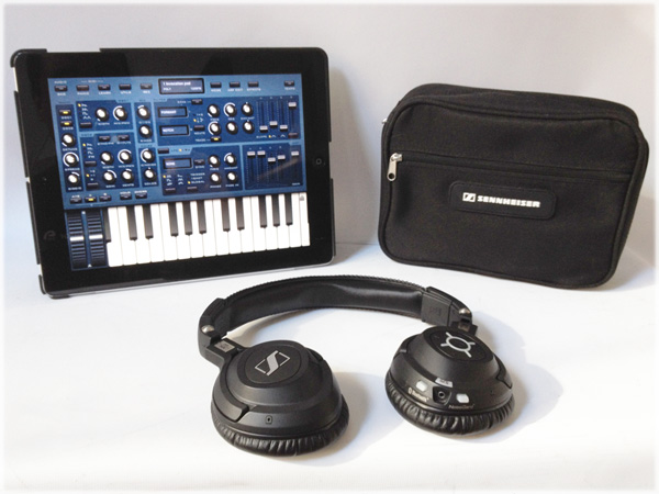 Sennheiser MM 550 with iPad running Sunrizer Synth